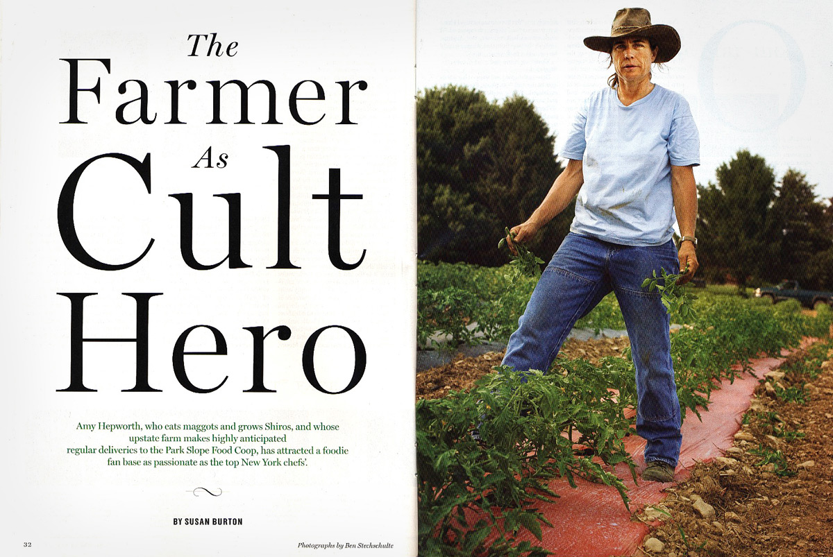 Amy Hepworth, Organic Farmer. Milton, NY. New York Magazine.