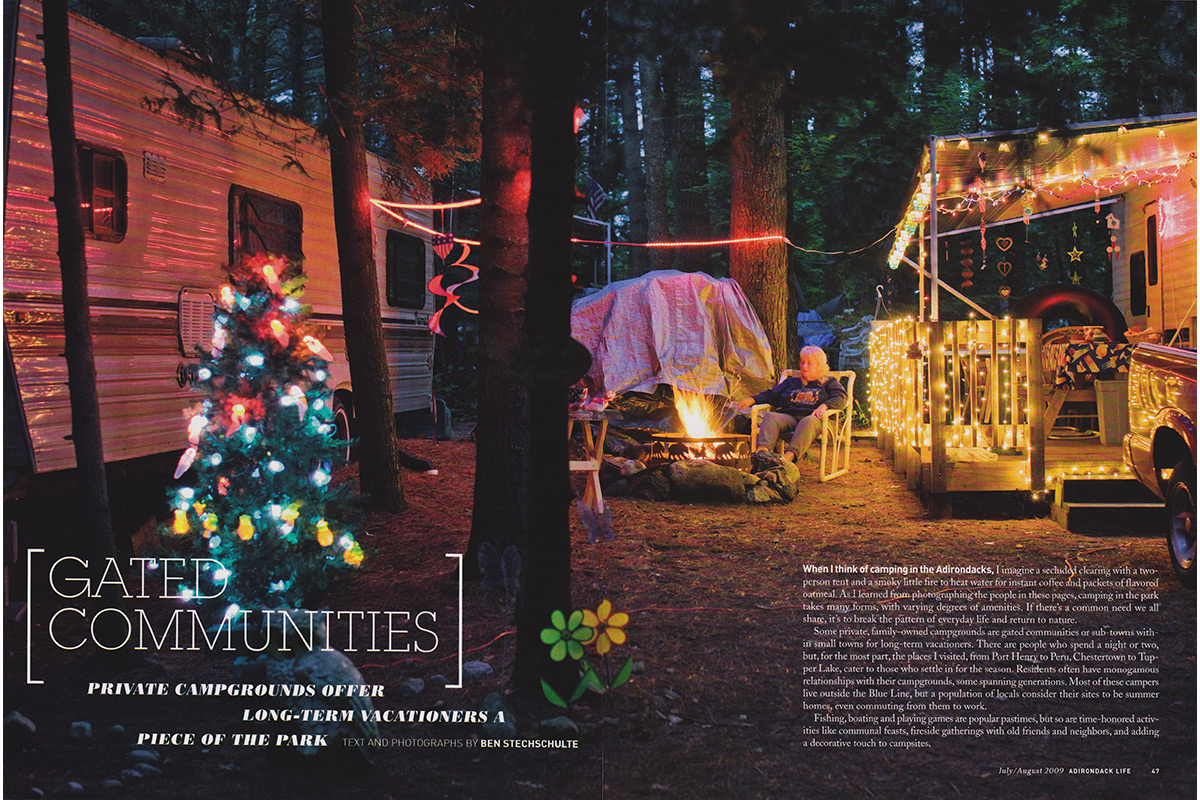 Adirondack Camp Grounds Feature Story. Adirondack Life Magazine.