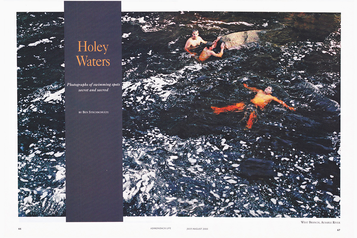 Adirondack Swimming Holes Feature Story. Adirondack Life Magazine.