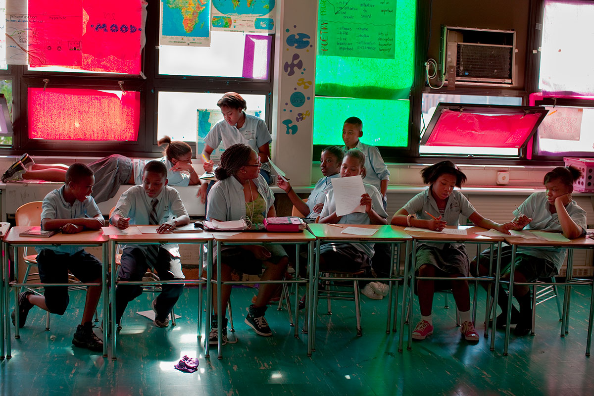 Charter School Classroom, Baltimore Freedom Academy. Baltimore, MD.People Magazine