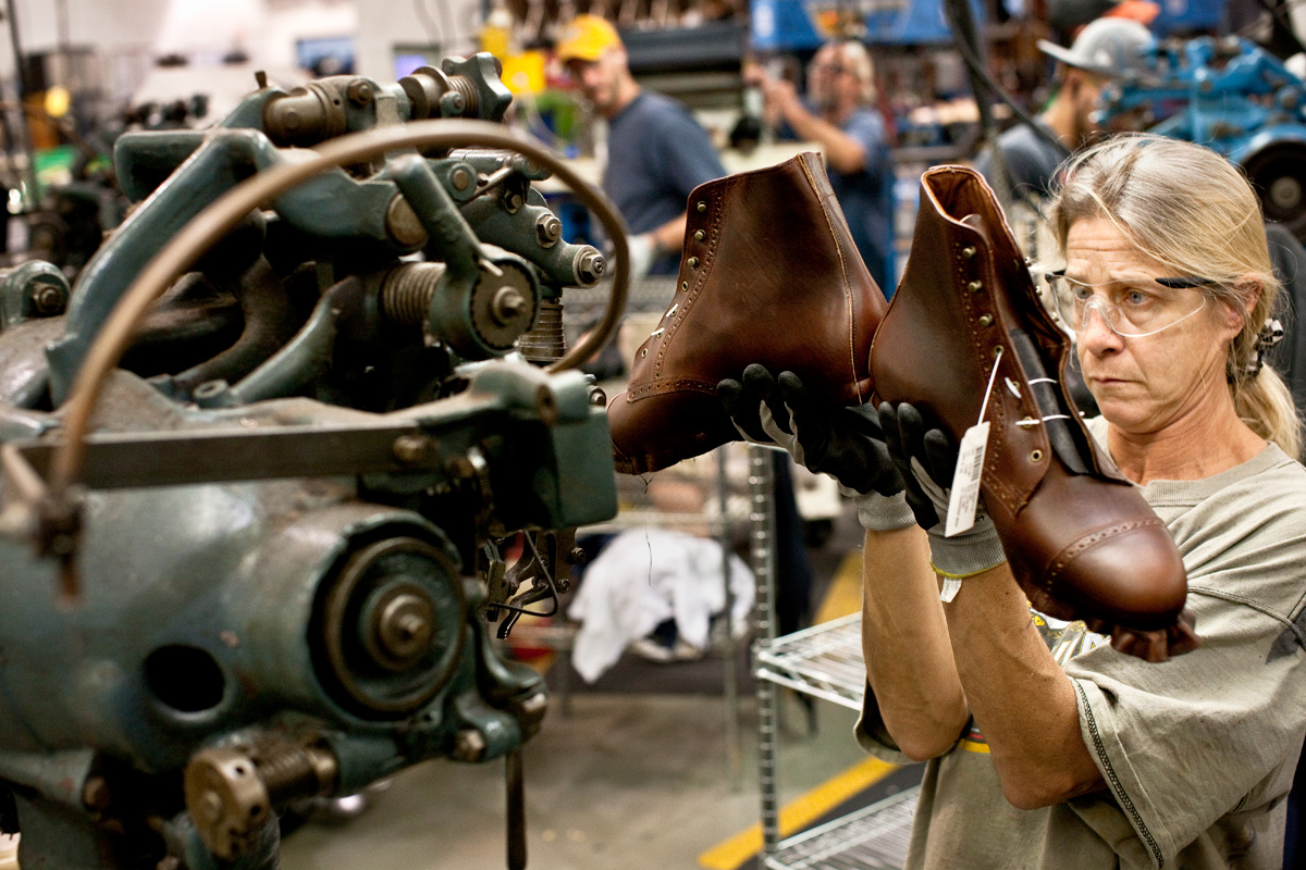 Allen Edmonds Shoe Factory. Port Washington, WI. Fortune Magazine