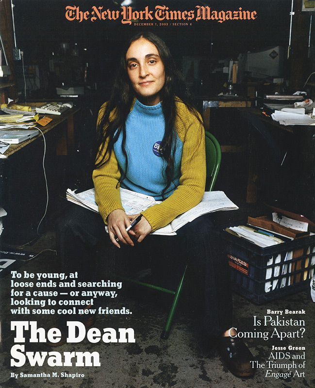 The Dean Swarm, Cover Story. The New York Times Magazine.