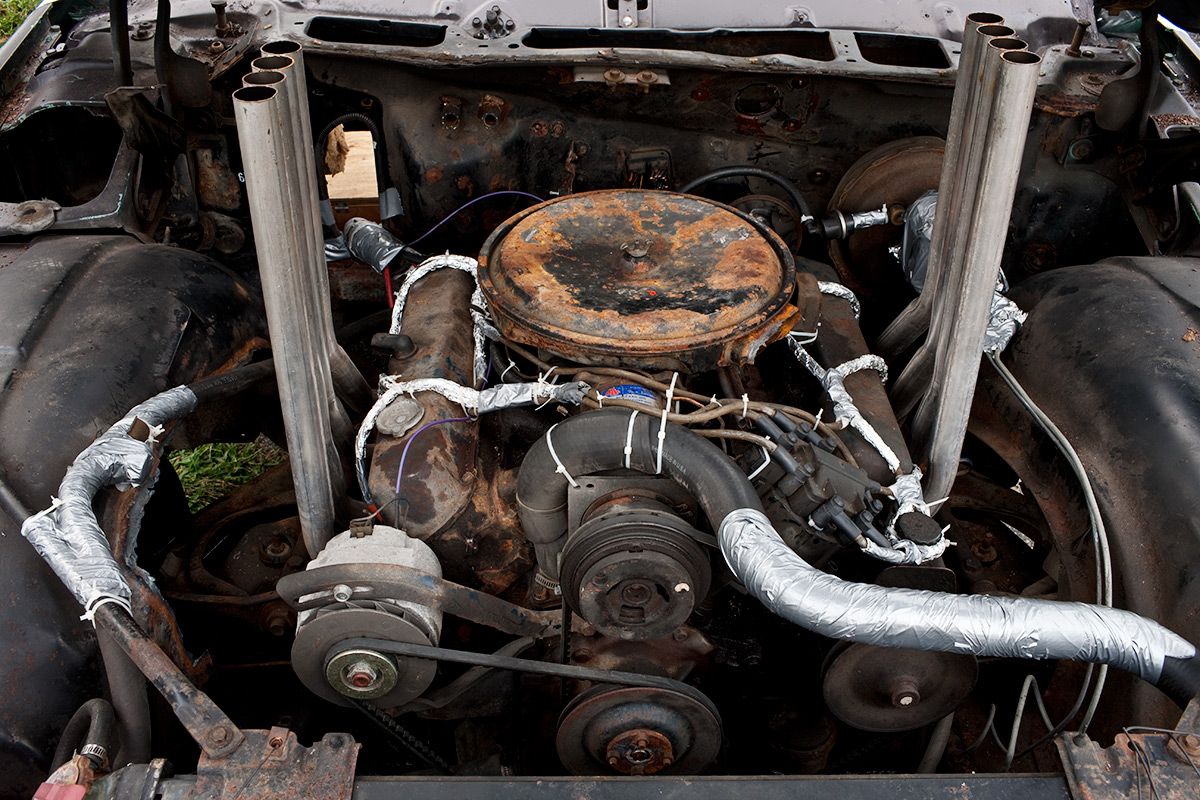 Demolition Derby Car Motor. Essex County, NY.