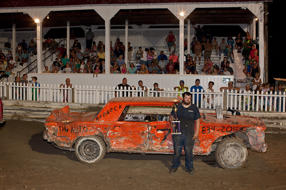 Winner. Demolition Derby. Westport, NY.