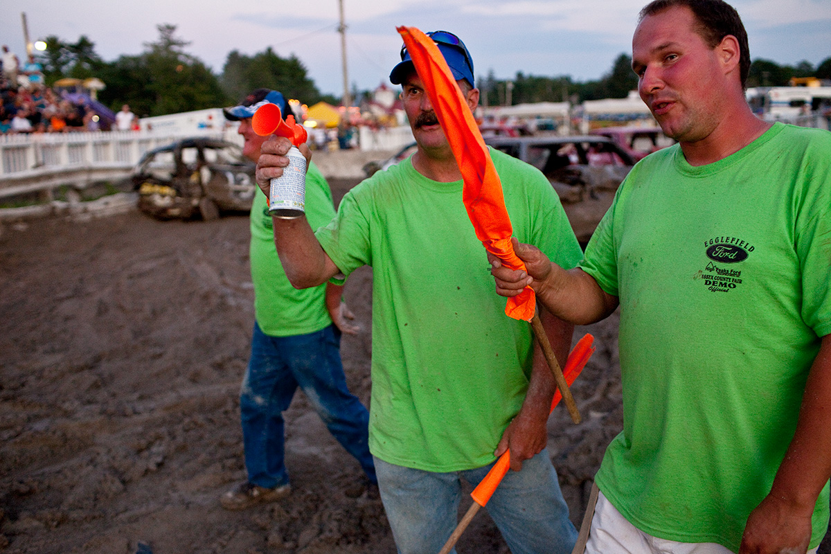 Demolition Derby Officials. Essex County, NY.
