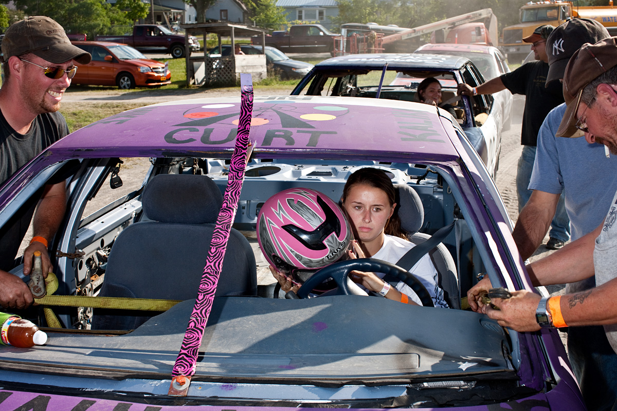 Demolition Derby Driver. Essex County, NY.
