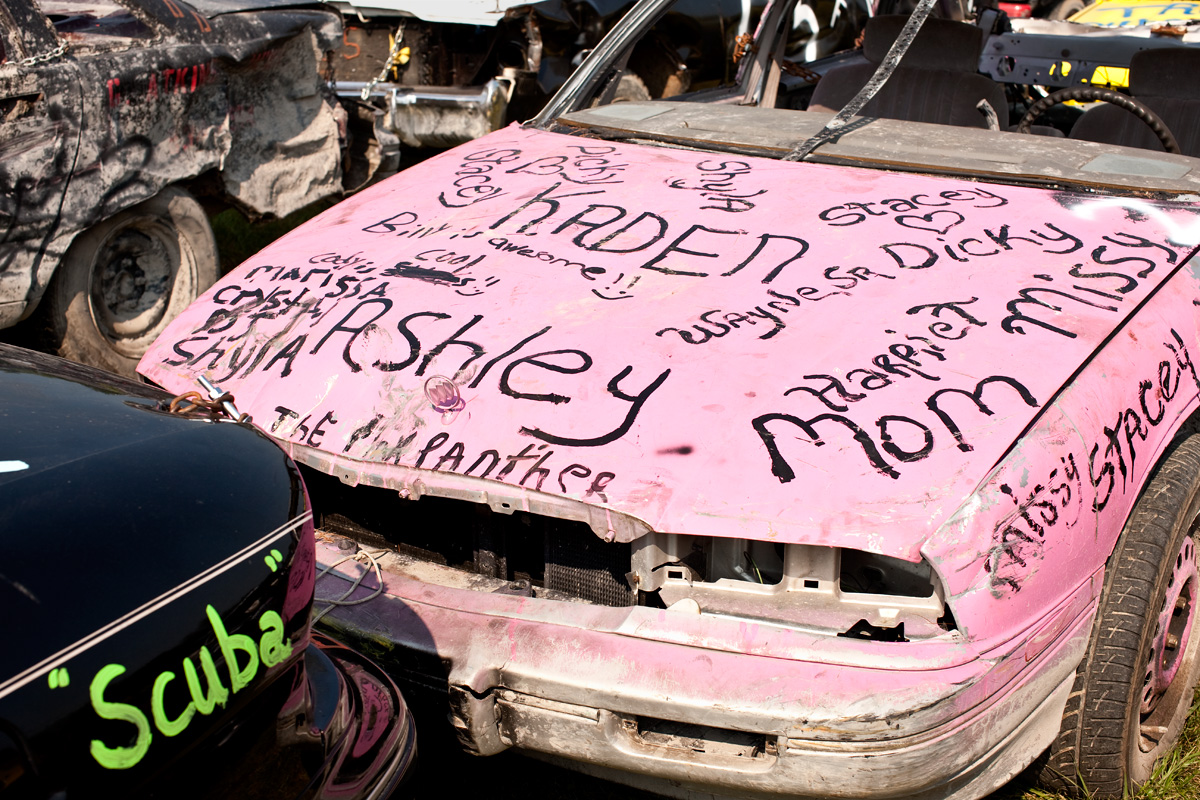 Demolition Derby Car. Essex County, NY.