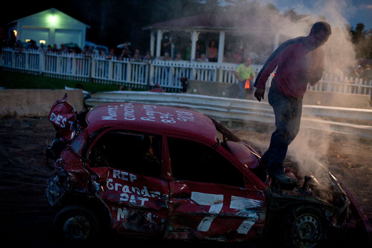 Randy. Demolition Derby. Westport, NY.