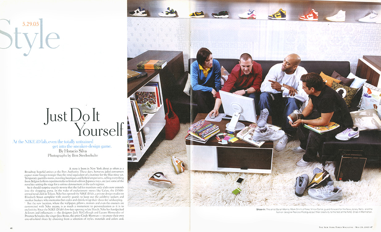 Nike ID. New York, NY. The New York Times Magazine.