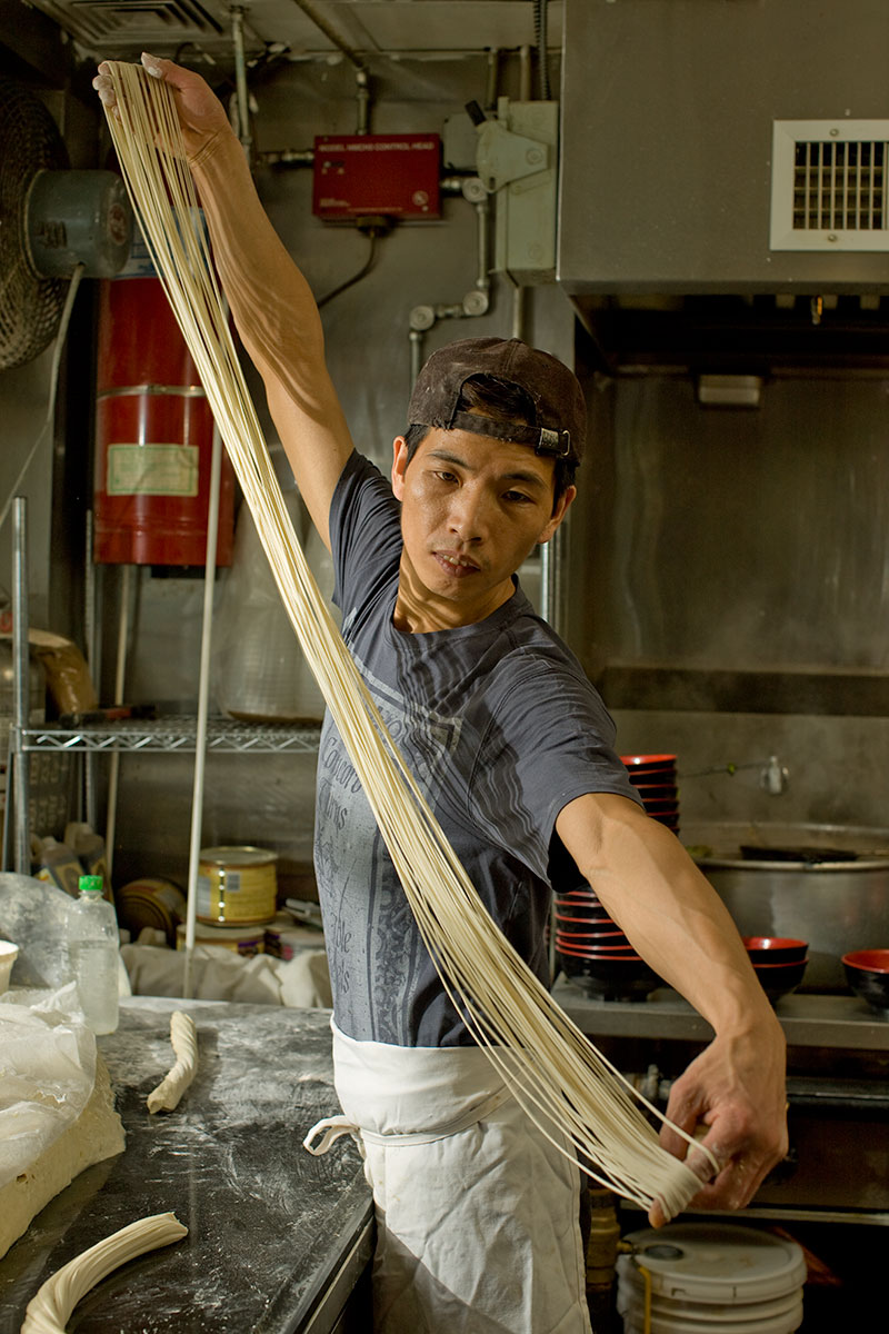 Noodle Maker, China Town, New York, NY. New York Magazine