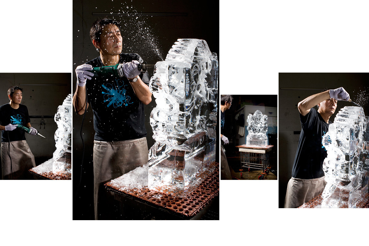 Takeo Okamoto, Master Ice Sculptor. Long Island City, NY. The New York Times Magazine