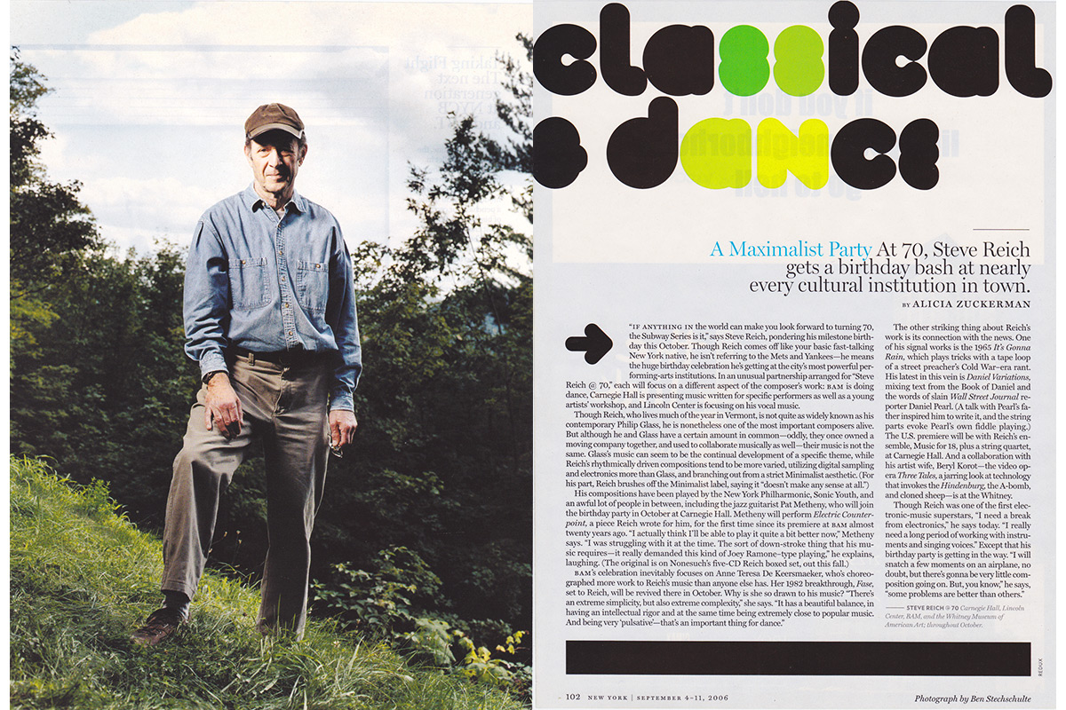 Steve Reich, Composer. Vermont. New York Magazine