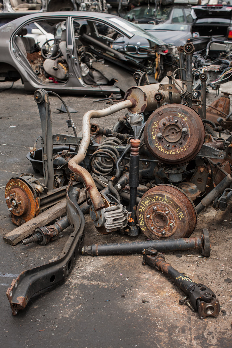 Auto Salvage, Royal Auto Parts. Willets Point, Corona, NY.
