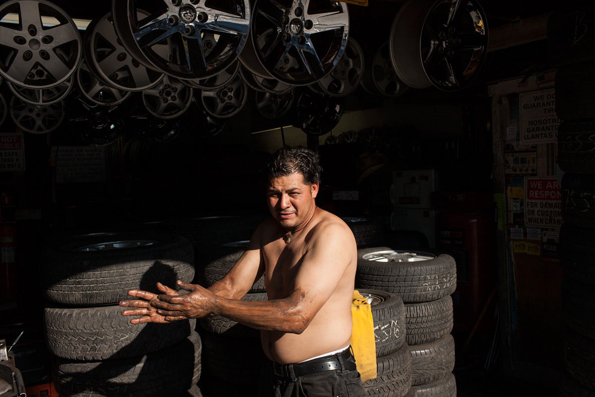 Tire Shop Mechanic. Willets Point, Corona, NY.